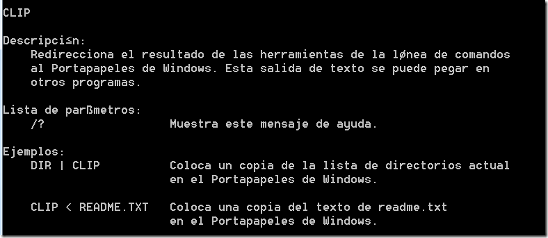 comando CLIP Windows 7